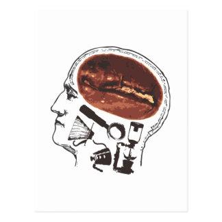 Coffee On the Brain Postcard