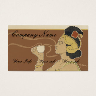 Coffee or Tea Business Cards - Art Nouveau