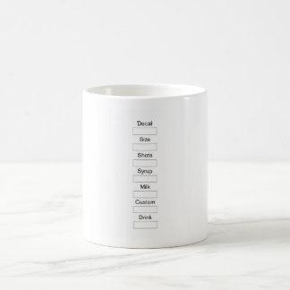 Coffee Order Chart Mug