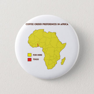 Coffee order preference in Africa 2 Inch Round Button