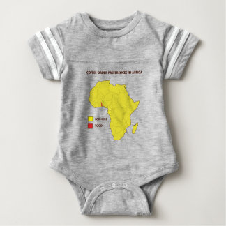 Coffee order preference in Africa Baby Bodysuit