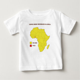Coffee order preference in Africa Baby T-Shirt