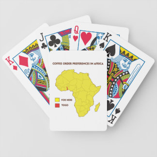 Coffee order preference in Africa Bicycle Playing Cards