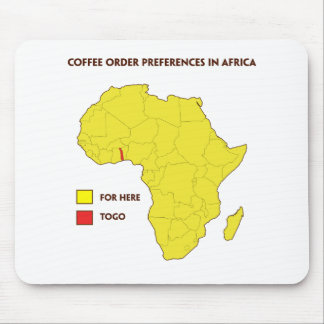 Coffee order preference in Africa Mouse Pad