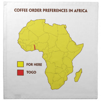Coffee order preference in Africa Napkin