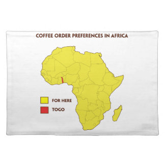 Coffee order preference in Africa Placemat