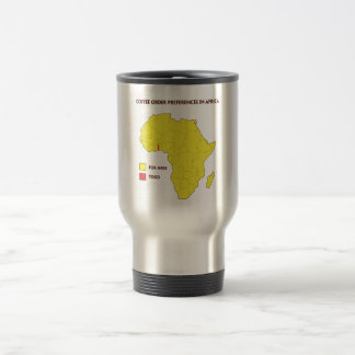 Coffee order preference in Africa Travel Mug