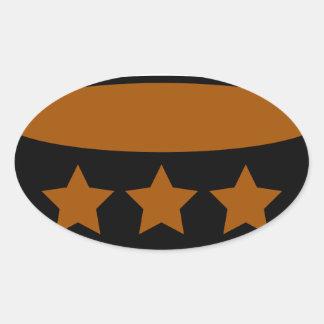 Coffee Oval Sticker