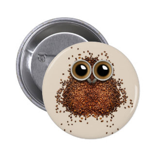 Coffee Owl buttons