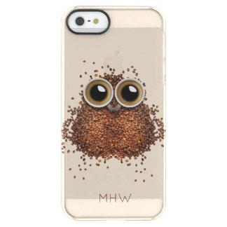 Coffee Owl custom monogram phone cases