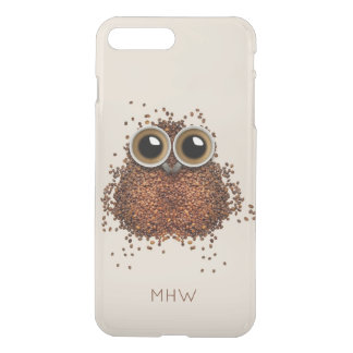 Coffee Owl custom monogram phone cases