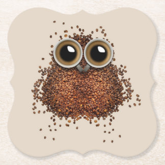 Coffee Owl paper coasters