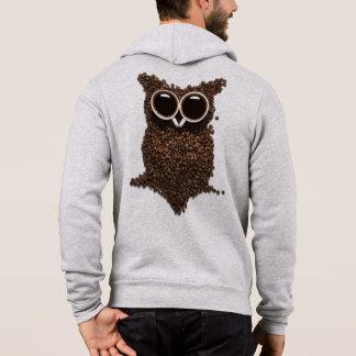 Coffee Owl Zip Hoodie