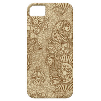 Coffee Paisley Doodle Patterns iPhone 5 Case