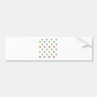 Coffee Pattern Bumper Sticker