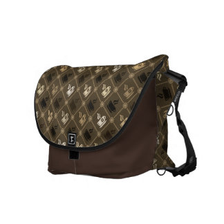 Coffee Pattern Commuter Bags