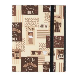 Coffee Pattern custom monogram device cases