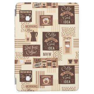 Coffee Pattern custom monogram device covers iPad Air Cover