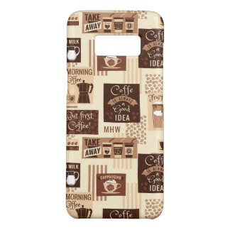 Coffee Pattern custom monogram phone cases