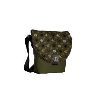 Coffee Pattern Messenger Bags
