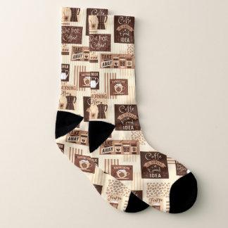 Coffee Pattern socks 1