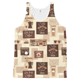 Coffee Pattern tank top