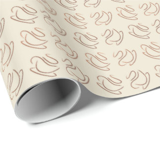 coffee pattern wrapping paper
