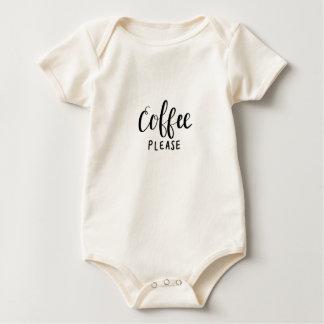 COFFEE PLEASE Calligraphy Baby Bodysuit
