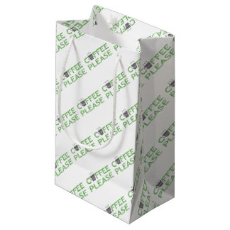 Coffee please - green and black. small gift bag