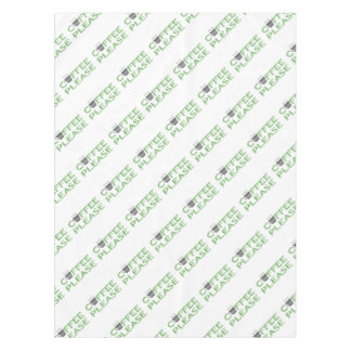 Coffee please - green and black. tablecloth
