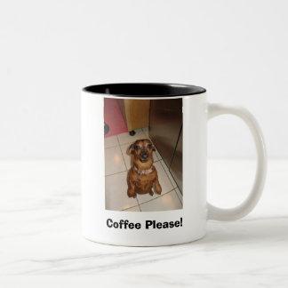 Coffee Please! Two-Tone Coffee Mug