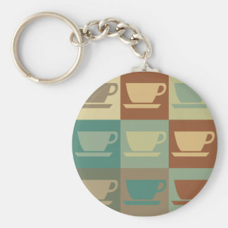Coffee Pop Art Keychains