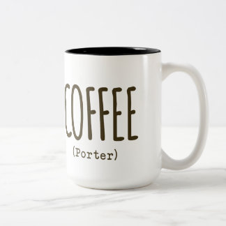 Coffee Porter Craft Beer Mug