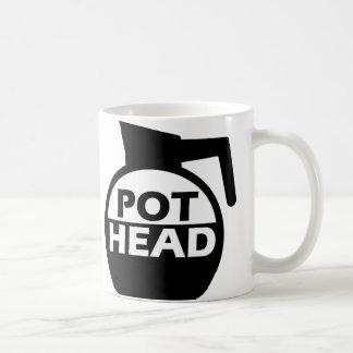 Coffee Pot Head Funny Mug Caffeine