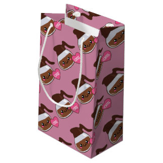 Coffee Pot Love (pink background) Small Gift Bag