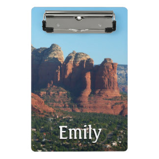 Coffee Pot Rock I in Sedona Arizona Mini Clipboard