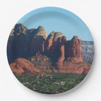 Coffee Pot Rock I in Sedona Arizona Paper Plate