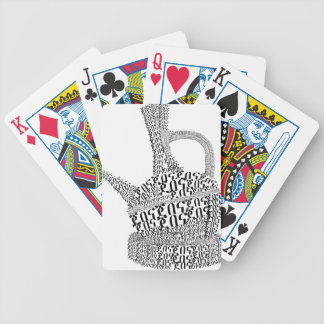 Coffee Pot Text Design Bicycle Playing Cards