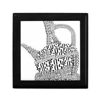 Coffee Pot Text Design Gift Box