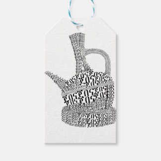 Coffee Pot Text Design Gift Tags