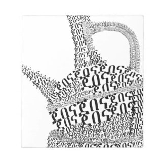 Coffee Pot Text Design Notepad