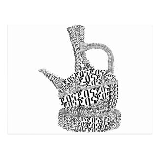 Coffee Pot Text Design Postcard