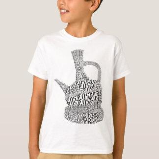 Coffee Pot Text Design T-Shirt