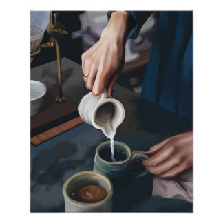 Coffee Pour Photo Print
