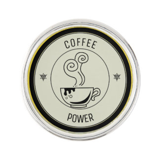 Coffee Power Lapel Pin