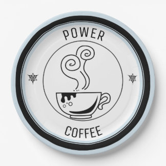 Coffee Power Paper Plate