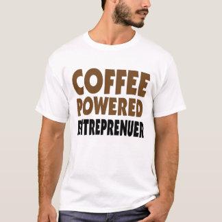 Coffee powered entrepreneur men's white tee shirt