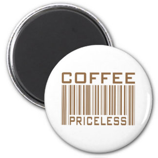Coffee Priceless Bar Code Tees Gifts 2 Inch Round Magnet