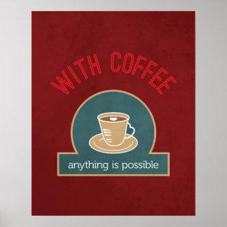 Coffee Quote Modern Kitchen Art Poster