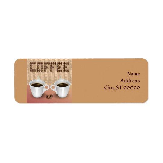 Coffee Return Address Label